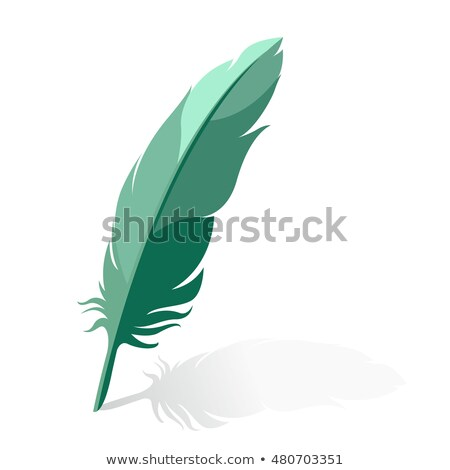 Ink Pen Green Vector Icon Design Stock photo © rizwanali3d