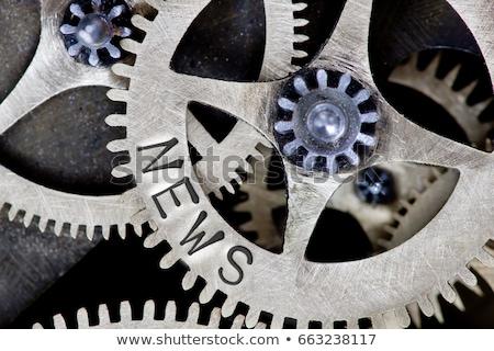 機械 ニュース 金属 歯車 黒 建設 ストックフォト © tashatuvango