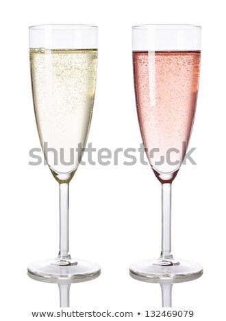 witte · steeg · champagne · glas · spiegel · liefde - stockfoto © user_8545756