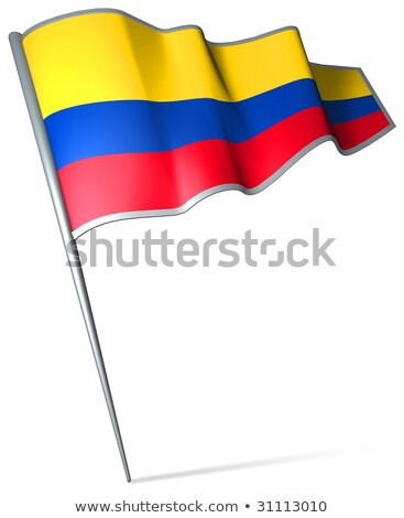 Flag pin of colombia Stock photo © MikhailMishchenko