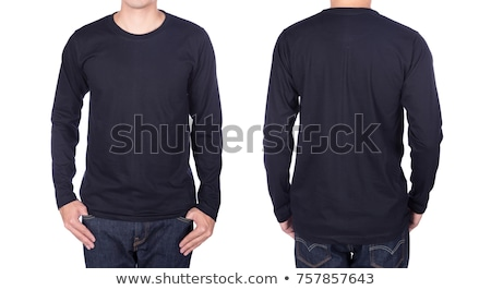 Young man wearing blank black long sleeve Stock photo © sumners