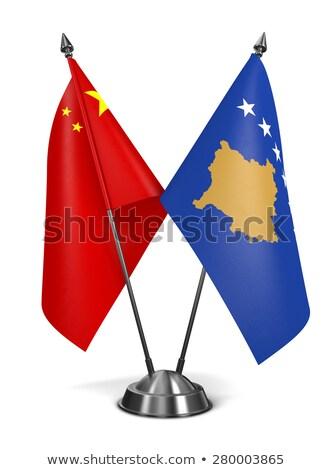 China Kosovo miniatura bandeiras isolado branco Foto stock © tashatuvango