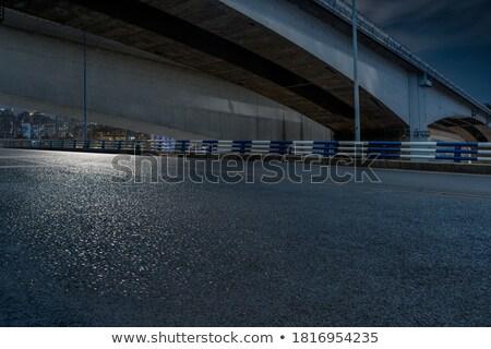 Köprü bulutlu gün mavi pas Stok fotoğraf © VisualCorruption
