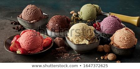 Olasz fagylalt kirakat étel tej eszik Stock fotó © AlessandroZocc