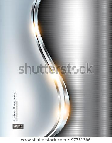 Elegante 3D metálico 3d Foto stock © teerawit