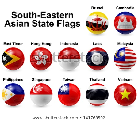 Icon vlag Laos geïsoleerd witte reizen Stockfoto © MikhailMishchenko