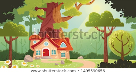 Cartoon vector fairy tale drawing houses Stock photo © balabolka
