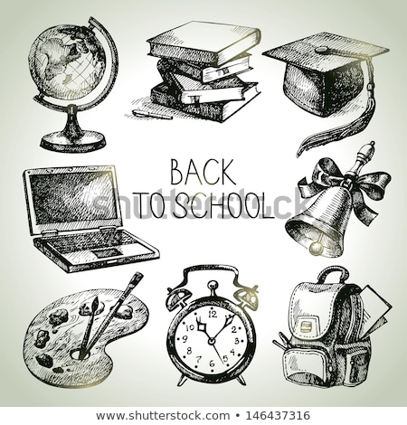 back to school vintage image vector stock photo © balabolka