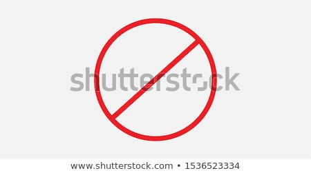 Interdiction symbol stock photo © Lom