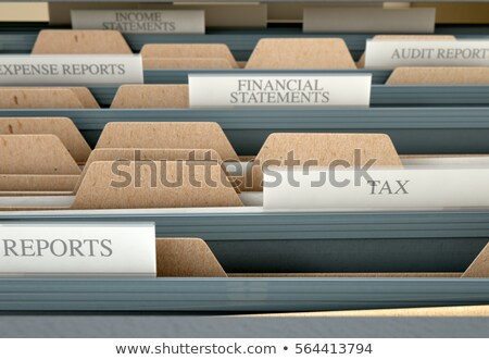 a drawer cabinet with the label taxes stock photo © zerbor