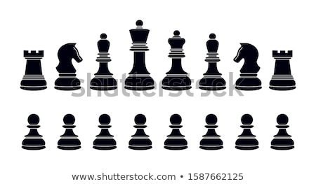 Abstract  background with a  chess pawn, vector illustration Stock photo © carodi