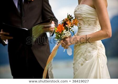Свадебная церемония свадьба арки украшения избирательный подход любви Сток-фото © amok