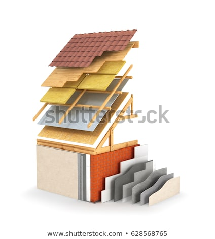 Dak illustratie bouwmaterialen gebouw metaal reparatie Stockfoto © ssuaphoto