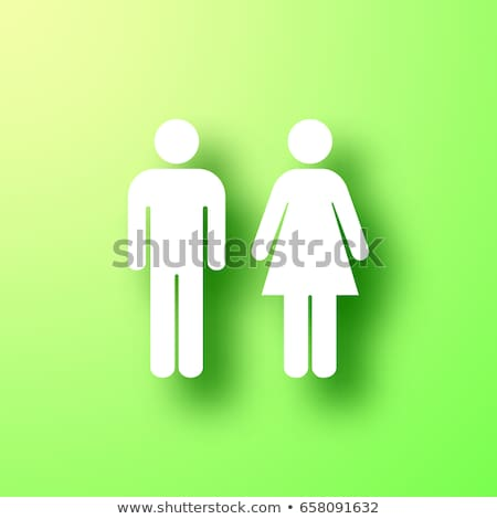 3d white people woman in the toilet stock photo © texelart