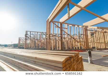 nouvelle · construction · maison · résumé · bois · maison - photo stock © feverpitch