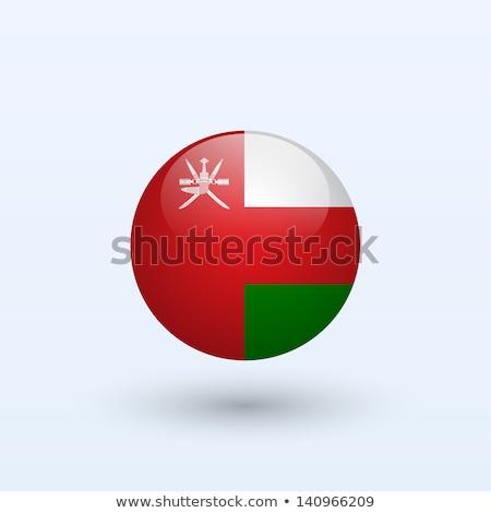 Ikon zászló Omán fényes felirat fehér Stock fotó © MikhailMishchenko