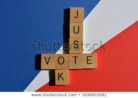 политику кроссворд красный слово крест синий Сток-фото © fuzzbones0