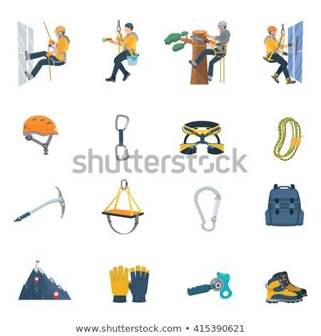 Stock photo: color alpinism equipment rope icon illustration
