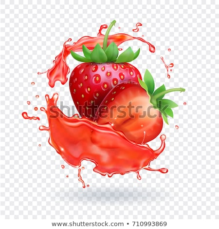 strawberry splash stock photo © giko