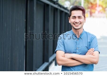 Hint yakışıklı mutlu adam yakışıklı adam gülen Stok fotoğraf © ziprashantzi