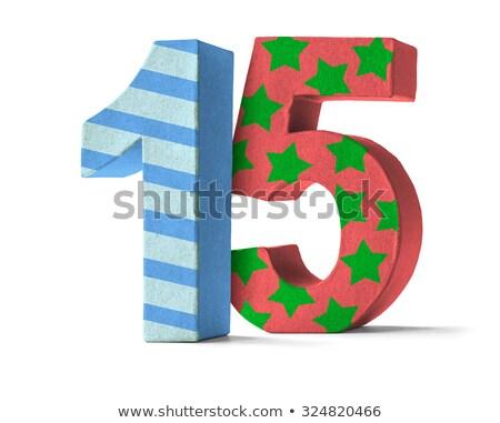 Kleurrijk papier aantal witte 15 partij Stockfoto © Zerbor
