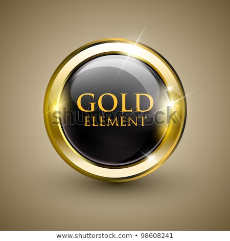 Felirat ki arany vektor ikon gomb Stock fotó © rizwanali3d