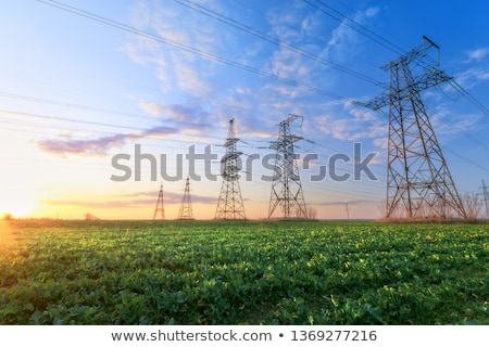 Power lines in the landscape Stock photo © ondrej83