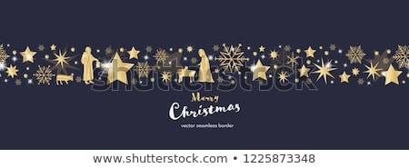 Bebek İsa Noel kartpostal kartpostallar çocuk Stok fotoğraf © marimorena