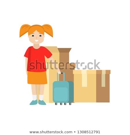 若い女性 黄色 スーツケース 立って 車 女性 ストックフォト © vlad_star