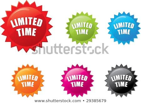 Idő ajánlat zöld vektor ikon terv Stock fotó © rizwanali3d
