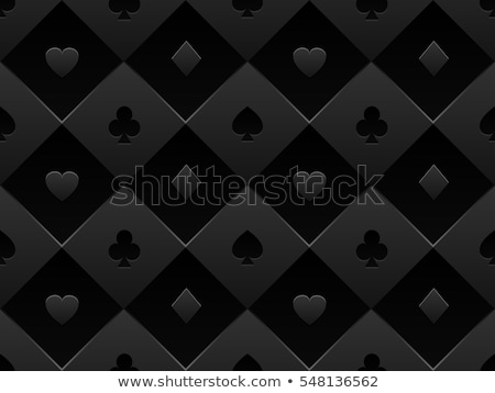 Black poker card with pattern composed from clubs, hearts, spades and diamonds Stock photo © liliwhite