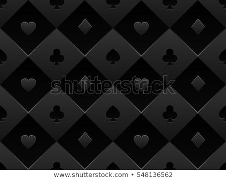 preto · pôquer · cartão · padrão · corações · spades - foto stock © liliwhite