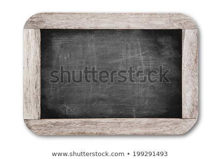 A chalkboard sign on a white background - We are closed Stock photo © Zerbor