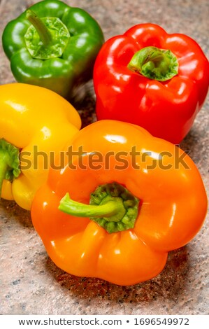 Red green orange and yellow bell pepper Stock photo © anonedsgn