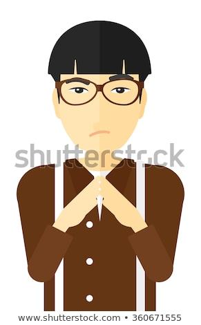 человека · вектора · молодые · мужчины · лице - Сток-фото © rastudio