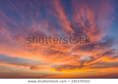 劇的な 日没 空 幻想的な 太陽 セット ストックフォト © tony4urban