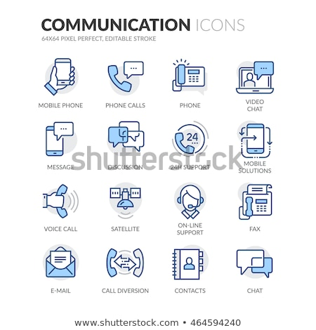 Communication blue icon set  Stock photo © Filata
