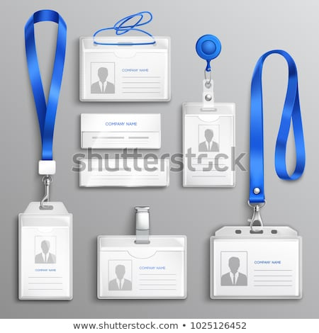 staff admission badge pass card or identification id card stock photo © winner