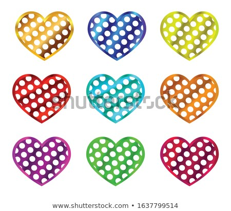 set of stickers with polka dot pattern eps 10 stock photo © beholdereye