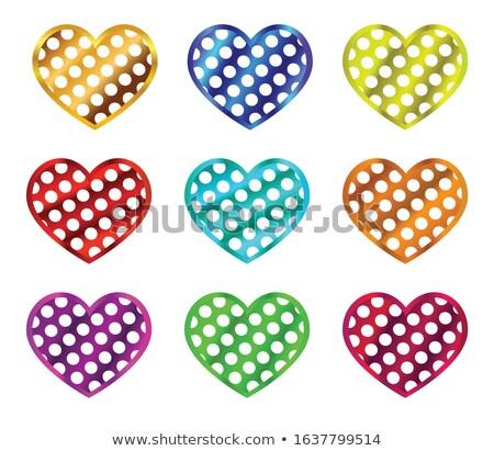 Set of stickers with polka dot pattern. EPS 10 Stock photo © beholdereye