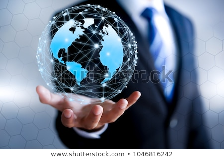 man holding globe stock photo © kentoh