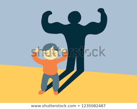 Child showing the muscles of his arms Stock photo © zurijeta