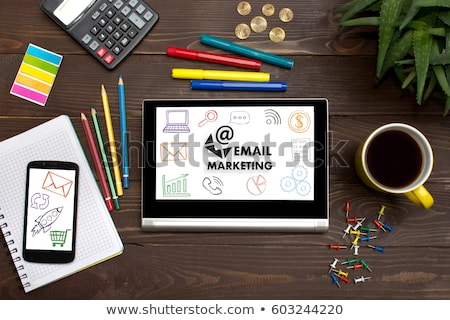 Effectief marketing tools icon business grijs Stockfoto © WaD