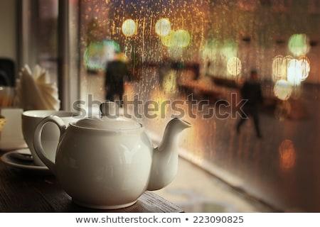 Shopping on a rainy day Stock photo © stevanovicigor