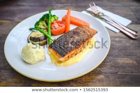 Pan seared fish with Hollandaise sauce Stock photo © Digifoodstock