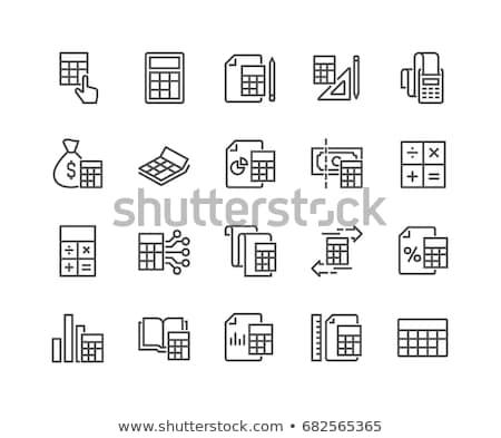 Matemático gráfico línea icono esquinas web Foto stock © RAStudio