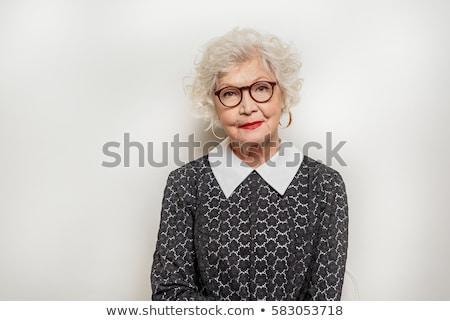Portret elegante dame jonge aantrekkelijke vrouw glamour Stockfoto © NeonShot