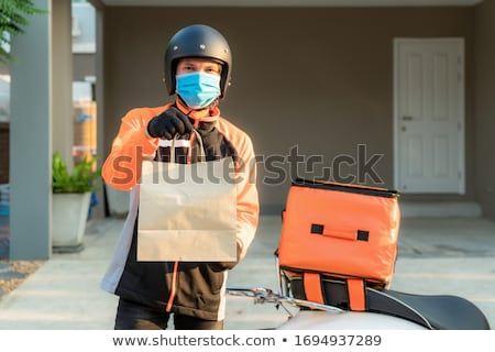 働いている人 速達便 実例 男 作業 背景 ストックフォト © bluering