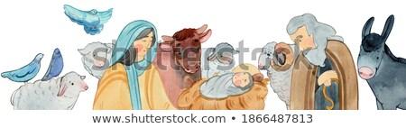 イエス · クリスマス · 孤立した · 白 · 母親 - ストックフォト © adrenalina