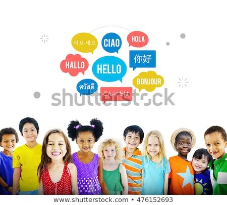 Internacional crianças comunicação diferente feliz Foto stock © vectorikart